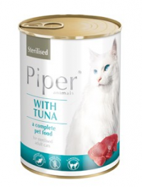 PIPER CAT Sterilised Tuňák 400gr. (konzerva)