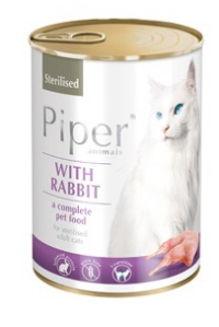 PIPER CAT Sterilised Králík 400gr. (konzerva)