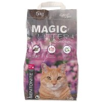 Kočkolit MAGIC LITTER Bentonite Original Flowers 5kg