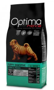 OPTIMAnova dog PUPPY DIGESTIVE GF  Rabbit 2kg-11086