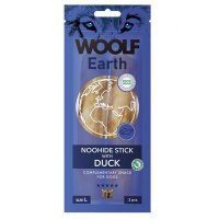 WOOLF Earth Noohide Sticks with Duck L 85 g