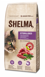Shelma Cat Freshmeat Sterilised Beef Grain Free 8 kg