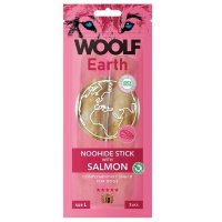 WOOLF Earth Noohide Sticks with Salmon L 85 g