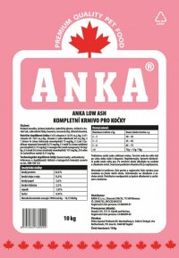 ANKA Cat Low Ash 10kg.