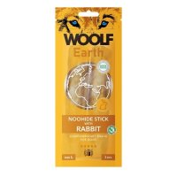 WOOLF Earth Noohide Sticks with Rabbit L 85 g